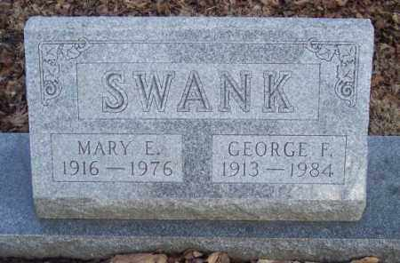 SWANK, MARY E. - Muskingum County, Ohio | MARY E. SWANK - Ohio Gravestone Photos