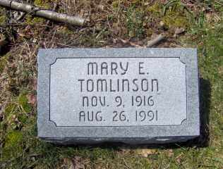 TOMLINSON, MARY E - Muskingum County, Ohio | MARY E TOMLINSON - Ohio Gravestone Photos