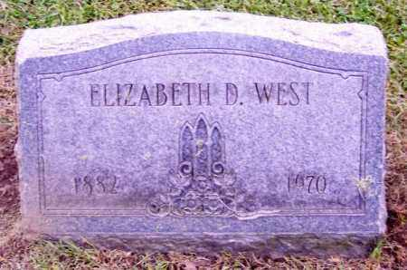 WEST, ELIZABETH D. - Muskingum County, Ohio | ELIZABETH D. WEST - Ohio Gravestone Photos