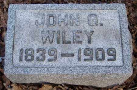 WILEY, JOHN G. - Muskingum County, Ohio | JOHN G. WILEY - Ohio Gravestone Photos