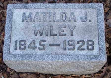 WILEY, MATILDA J. - Muskingum County, Ohio | MATILDA J. WILEY - Ohio Gravestone Photos