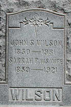WILSON, SARRAH - Muskingum County, Ohio | SARRAH WILSON - Ohio Gravestone Photos