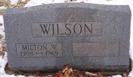 WILSON, MILTON W - Muskingum County, Ohio | MILTON W WILSON - Ohio Gravestone Photos