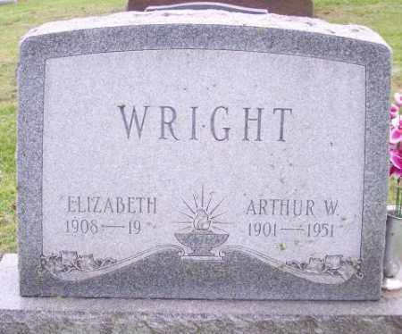WRIGHT, ARTHUR W. - Muskingum County, Ohio | ARTHUR W. WRIGHT - Ohio Gravestone Photos