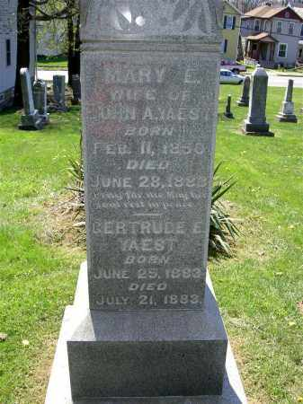 YAEST, MARY E. - Muskingum County, Ohio | MARY E. YAEST - Ohio Gravestone Photos