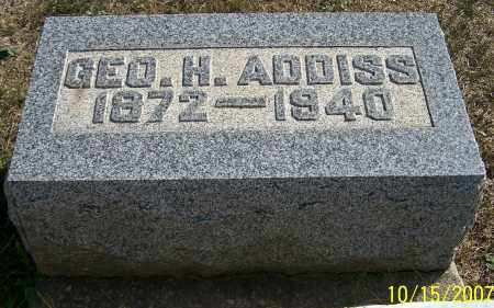 ADDISS, GEO.H. - Noble County, Ohio | GEO.H. ADDISS - Ohio Gravestone Photos