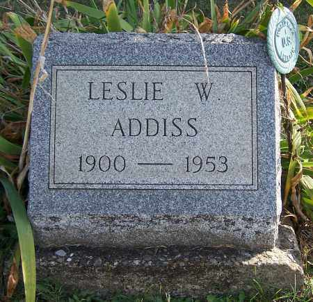 ADDISS, LESLIE W. - Noble County, Ohio | LESLIE W. ADDISS - Ohio Gravestone Photos