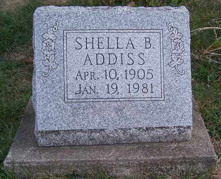 ADDISS, SHELLA B. - Noble County, Ohio | SHELLA B. ADDISS - Ohio Gravestone Photos