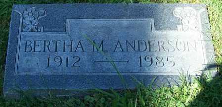 ANDERSON, BERTHA M. - Noble County, Ohio | BERTHA M. ANDERSON - Ohio Gravestone Photos