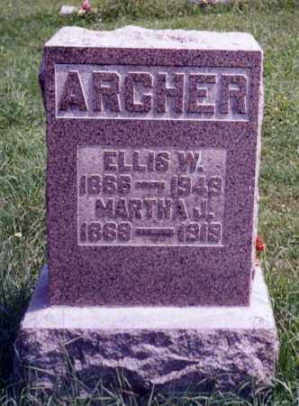 ARCHER, MARTHA J. - Noble County, Ohio | MARTHA J. ARCHER - Ohio Gravestone Photos