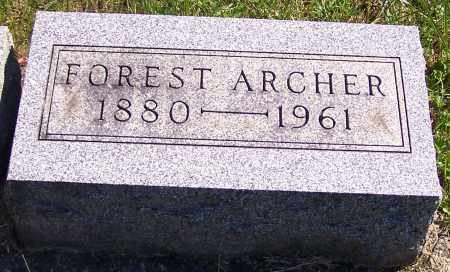 ARCHER, FOREST - Noble County, Ohio | FOREST ARCHER - Ohio Gravestone Photos