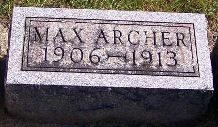 ARCHER, MAX - Noble County, Ohio | MAX ARCHER - Ohio Gravestone Photos