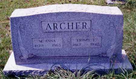 ARCHER, M. ANNA - Noble County, Ohio | M. ANNA ARCHER - Ohio Gravestone Photos