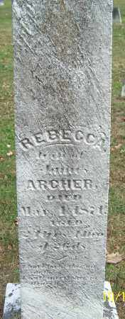 ARCHER, REBECCA - Noble County, Ohio | REBECCA ARCHER - Ohio Gravestone Photos