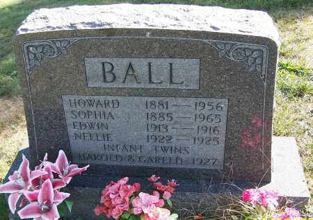 BALL, EDWIN - Noble County, Ohio | EDWIN BALL - Ohio Gravestone Photos