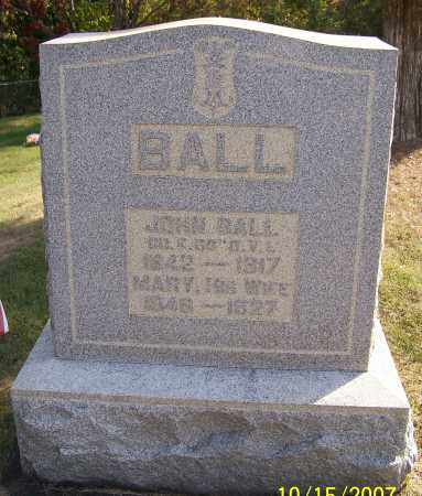 BALL, JOHN - Noble County, Ohio | JOHN BALL - Ohio Gravestone Photos