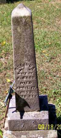 BASS, BELINDA - Noble County, Ohio | BELINDA BASS - Ohio Gravestone Photos