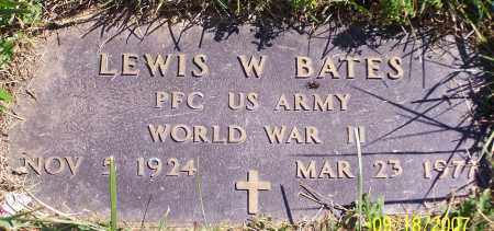 BATES, LEWIS W. - Noble County, Ohio | LEWIS W. BATES - Ohio Gravestone Photos