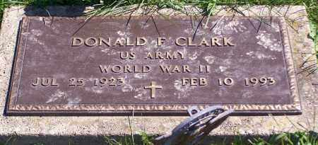 CLARK, DONALD F. - Noble County, Ohio | DONALD F. CLARK - Ohio Gravestone Photos