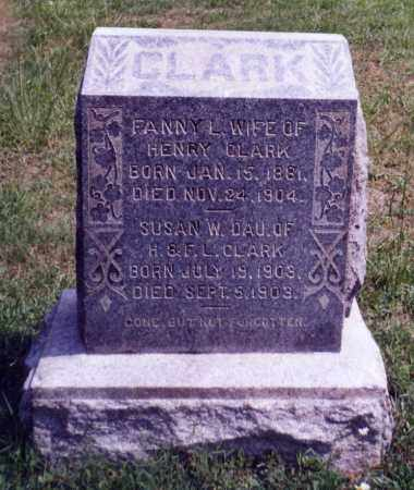 CLARK, SUSAN W. - Noble County, Ohio | SUSAN W. CLARK - Ohio Gravestone Photos