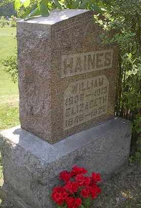 MCWILLIAMS HAINES, ELIZABETH - Noble County, Ohio | ELIZABETH MCWILLIAMS HAINES - Ohio Gravestone Photos