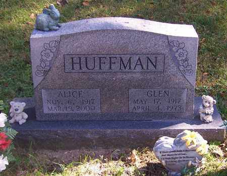HUFFMAN, ALICE - Noble County, Ohio | ALICE HUFFMAN - Ohio Gravestone Photos