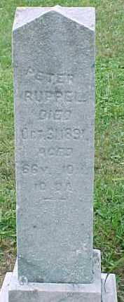 RUPPEL, PETER - Noble County, Ohio | PETER RUPPEL - Ohio Gravestone Photos