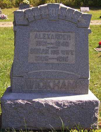 WICKHAM, ALEXANDER - Noble County, Ohio | ALEXANDER WICKHAM - Ohio Gravestone Photos