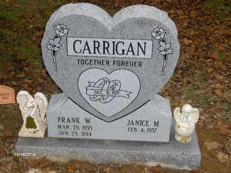 CARRIGAN, FRANK - Perry County, Ohio | FRANK CARRIGAN - Ohio Gravestone Photos
