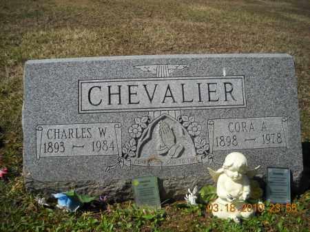 CHEVALIER, CHARLES(PETE) AND CORA (KINNEY) - Perry County, Ohio | CHARLES(PETE) AND CORA (KINNEY) CHEVALIER - Ohio Gravestone Photos