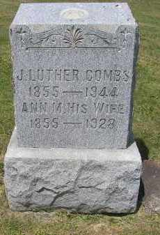 COMBS, J. LUTHER - Perry County, Ohio | J. LUTHER COMBS - Ohio Gravestone Photos