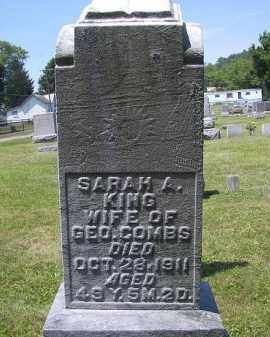 KING COMBS, SARAH A. - Perry County, Ohio | SARAH A. KING COMBS - Ohio Gravestone Photos