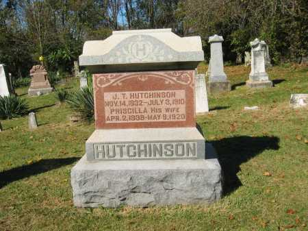 HUTCHINSON, PRISCILLA - Perry County, Ohio | PRISCILLA HUTCHINSON - Ohio Gravestone Photos