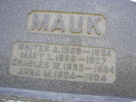 MAUK, WHITEN - Perry County, Ohio | WHITEN MAUK - Ohio Gravestone Photos