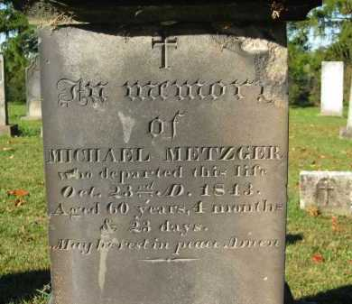 METZGER, MICHAEL - Perry County, Ohio | MICHAEL METZGER - Ohio Gravestone Photos