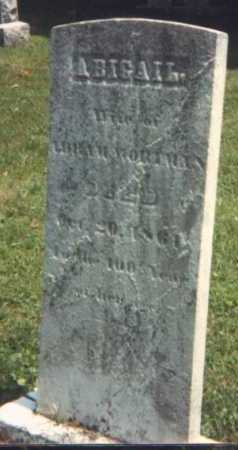 WORTMAN, ABIGAIL - Perry County, Ohio | ABIGAIL WORTMAN - Ohio Gravestone Photos