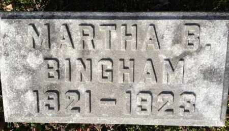 BINGHAM, MARTHA B - Pickaway County, Ohio | MARTHA B BINGHAM - Ohio Gravestone Photos