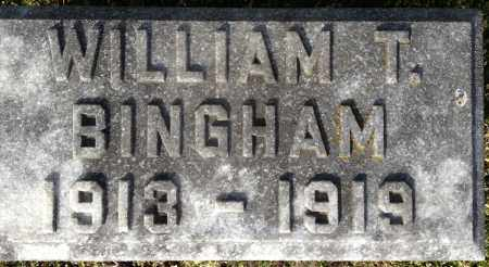 BINGHAM, WILLIAM THOMAS - Pickaway County, Ohio | WILLIAM THOMAS BINGHAM - Ohio Gravestone Photos