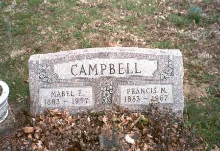 CAMPBELL, FRANCIS M. - Pickaway County, Ohio | FRANCIS M. CAMPBELL - Ohio Gravestone Photos