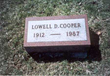COOPER, LOWELL D. - Pickaway County, Ohio | LOWELL D. COOPER - Ohio Gravestone Photos