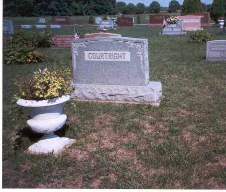 COURTRIGHT, MONUMENT - Pickaway County, Ohio | MONUMENT COURTRIGHT - Ohio Gravestone Photos