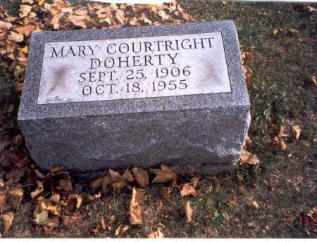 COURTRIGHT DOHERTY, MARY - Pickaway County, Ohio | MARY COURTRIGHT DOHERTY - Ohio Gravestone Photos