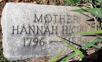HICKLE, HANNAH - Pickaway County, Ohio | HANNAH HICKLE - Ohio Gravestone Photos