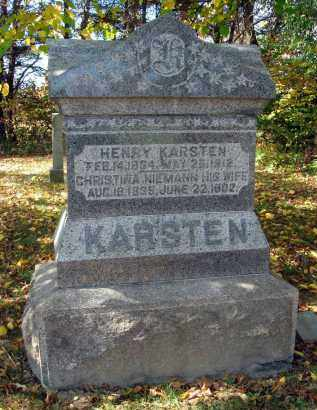 NIEMANN KARSTEN, CHRISTINA - Pickaway County, Ohio | CHRISTINA NIEMANN KARSTEN - Ohio Gravestone Photos