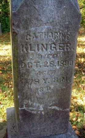 KLINGER, CATHARINE - Pickaway County, Ohio | CATHARINE KLINGER - Ohio Gravestone Photos