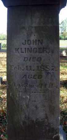 KLINGER, JOHN - Pickaway County, Ohio | JOHN KLINGER - Ohio Gravestone Photos
