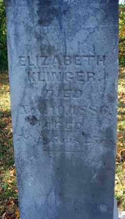 KLLINGER, ELIZABETH - Pickaway County, Ohio | ELIZABETH KLLINGER - Ohio Gravestone Photos