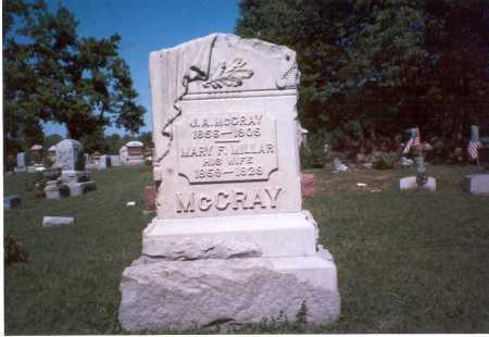 MCCRAY, MARY F. - Pickaway County, Ohio | MARY F. MCCRAY - Ohio Gravestone Photos