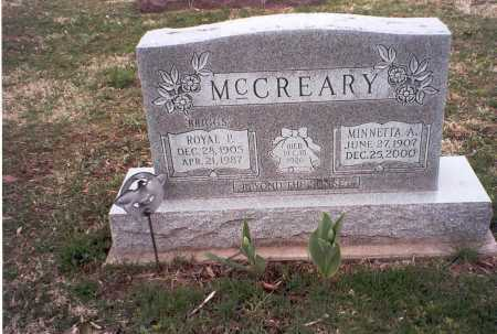 RAREY MCCREARY, MINNETTA A. - Pickaway County, Ohio | MINNETTA A. RAREY MCCREARY - Ohio Gravestone Photos