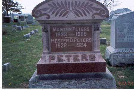 PETERS, MANTON - Pickaway County, Ohio | MANTON PETERS - Ohio Gravestone Photos